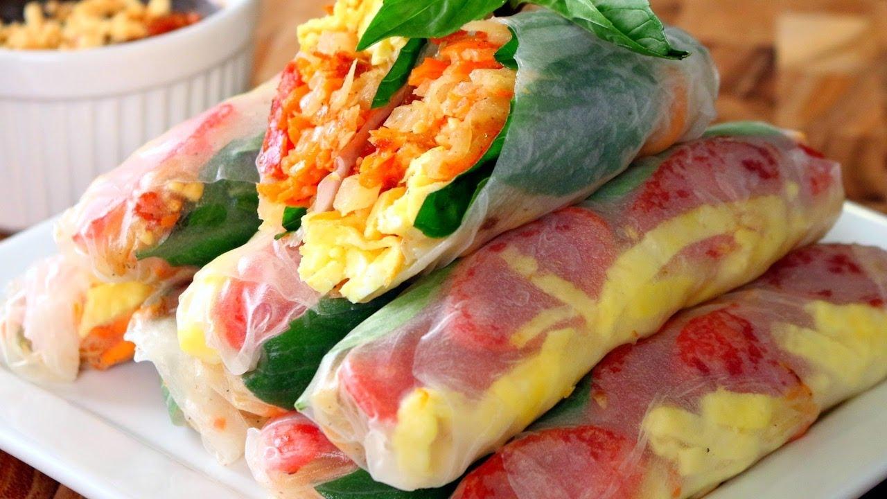 Bo Bia How To Make Fresh Spring Rolls Cach Lam Bo Bia Summer Roll Recipe Youtube
