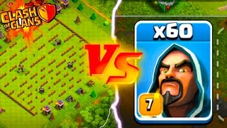 THE MAZE VS NEW MAXED WIZARDS! Clash of Clans New Update Maze Base Challenge!
