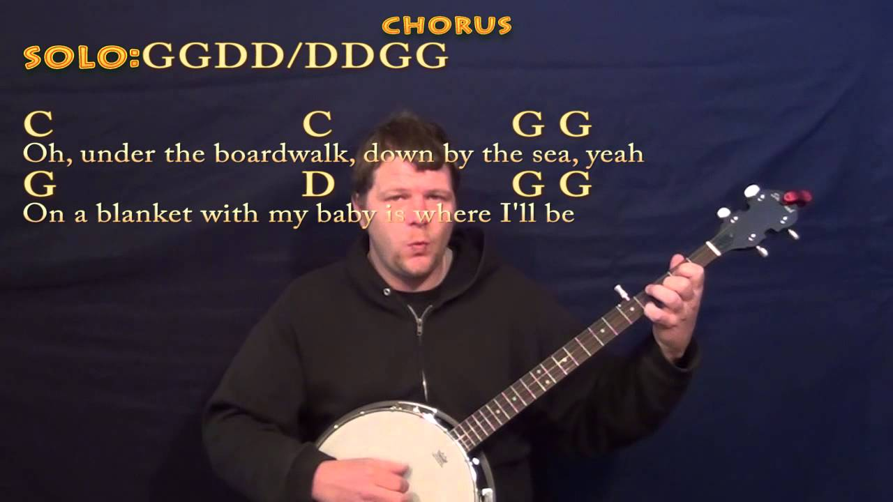 Under The Boardwalk The Drifters Banjo Cover Lesson With Chords