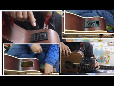 Convert Ur Acoustic Guitar Into Electro Acoustic Guitar Cheapest Easily Hindi Guitar Tricks Youtube