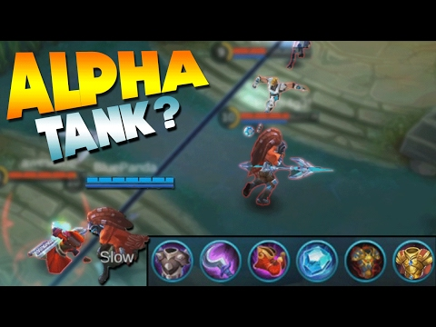 Mobile Legends Alpha Tank Build Gameplay!