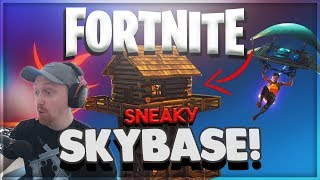 SNEAKY SKYBASE - FORTNITE Battle Royal Gameplay