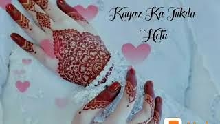 Kash Mera Dil Bhi Koi Kagaz Ka WhatsApp video