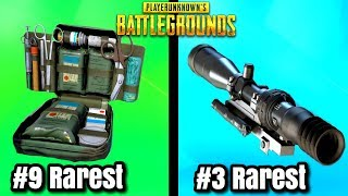 Top 10 RAREST ITEMS In PUBG! - PlayerUnknownsBattlegrounds