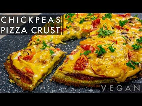 Chickpeas Pizza crust( Vegan, No Yeast, Gluten Free)