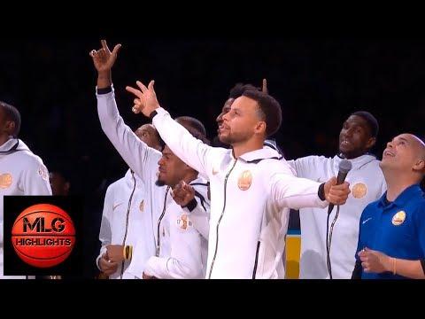 Warriors & Thunder Starters Introductions | 10.16.2018, NBA Season