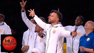 Warriors & Thunder Starters Introductions | 10.16.2018, NBA Season