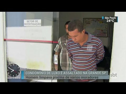 Homem que prestava serviços a um condomínio de luxo é preso em SP | SBT Brasil (23/03/18)