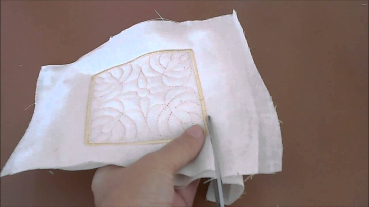 Sew In The Hoop Trapunto Quilt Blocks Youtube