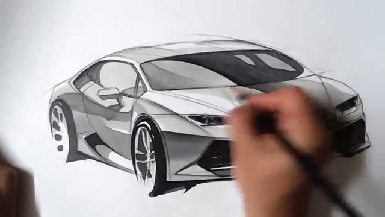 온스케치 Tv Car Sketch Lamborghini Huracan Front Quater View