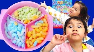 知育菓子Kracie ふしぎはっけん!にょきにょきコロロンを作ったよ♪himawari-CH thumbnail