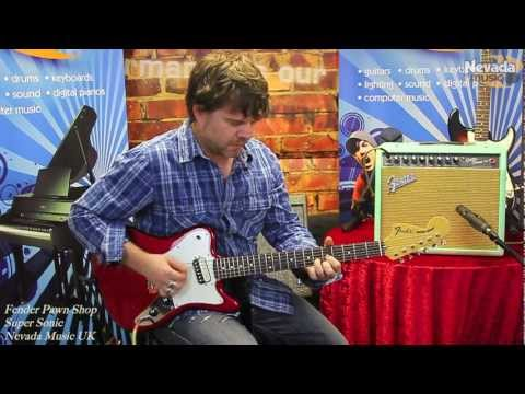 Fender Pawn Shop Super Sonic Guitars Demo - Damon and Groover at Nevada Music UK