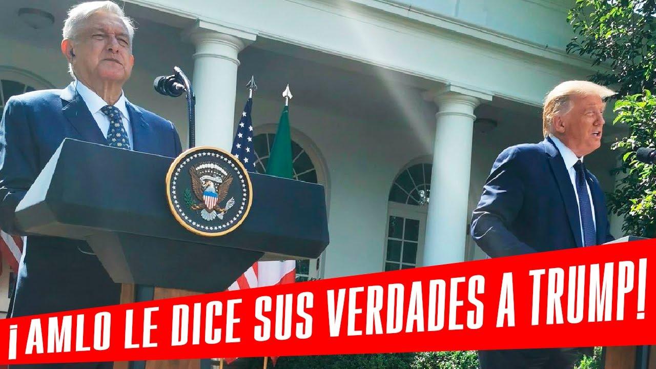"""AMLO le propinó 3 """"VIVAS MÉXICO"""" en su cara a Trump en la Casa Blanca"""