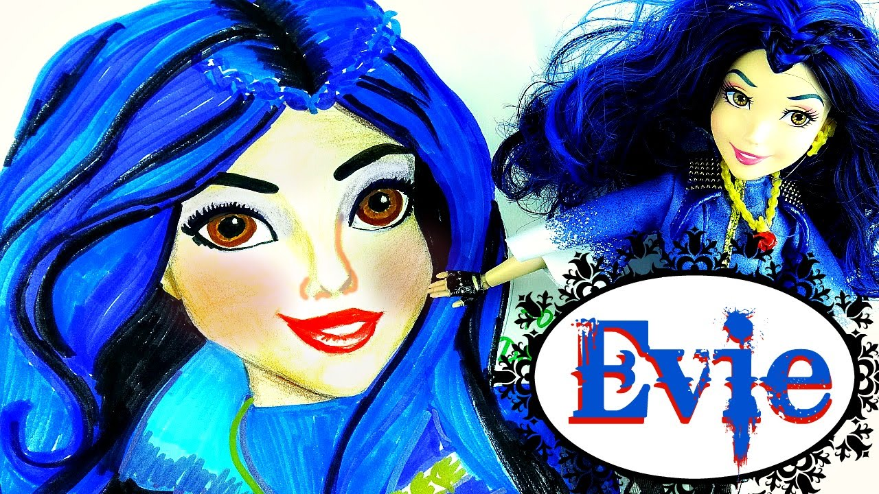 Disney DESCENDANTS WICKED WORLD EVIE. Speed Drawing and ...