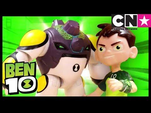 Игрушки «Бен 10» в действии | Битвы УЛУЧШЕННЫХ Алмаза и Ядра | Игрушки «Бен 10» | Cartoon Network