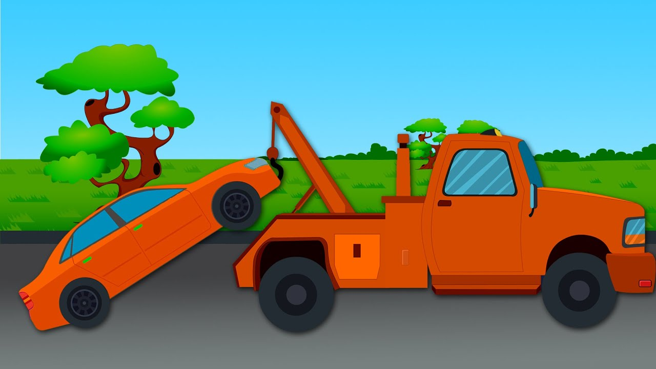 Towing Car Tow Truck Color Ride - Youtube