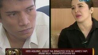 24 Oras: Kris Aquino, iginiit na binastos siya ni James Yap; Anak nila, naaapektuhan na