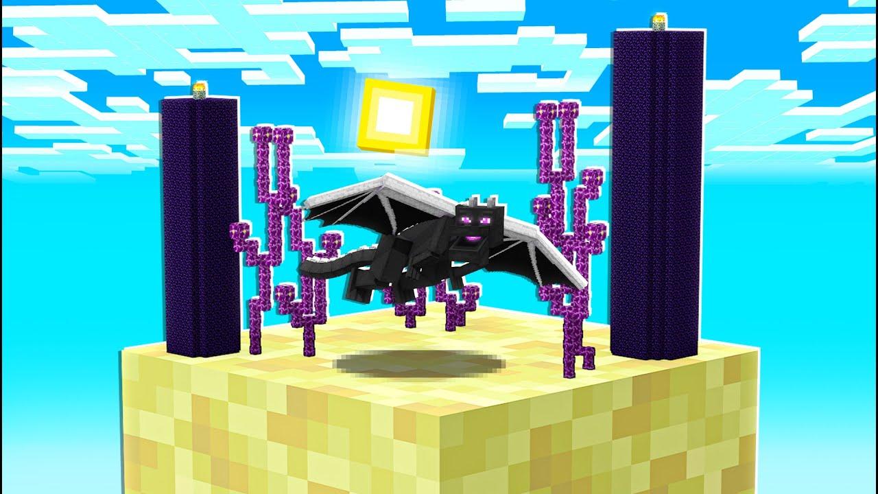 ENDER DRAGON BATTLE ON ONE BLOCK! (EP 9)