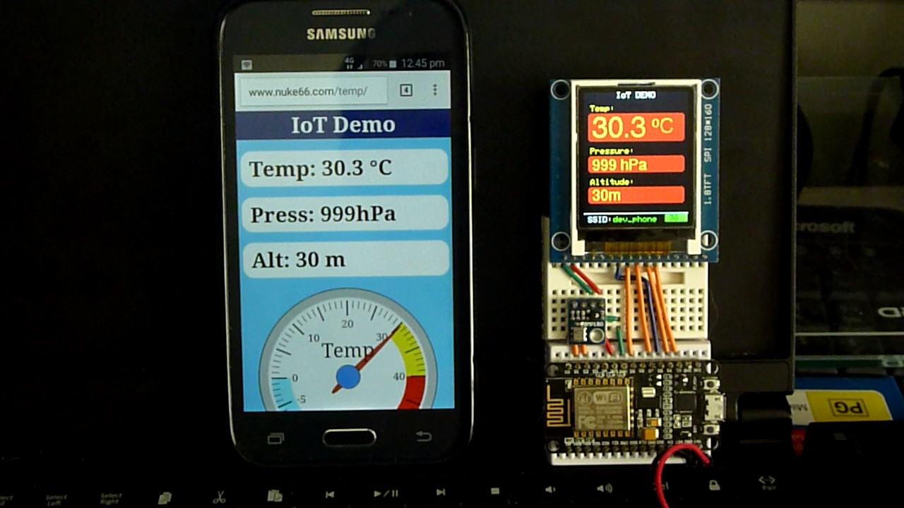 IoT temperature device (esp8266 & Firebase)