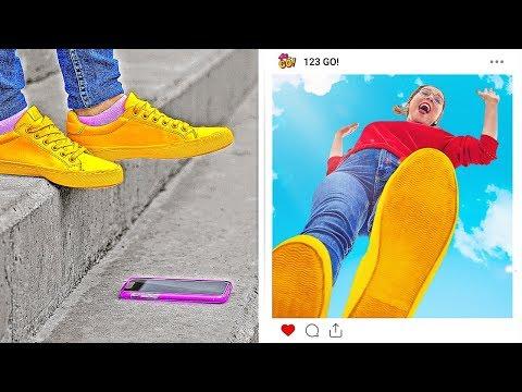 IDEIAS DE FOTOS DIVERTIDAS E CRIATIVAS PARA GAROTAS ||Dicas De Fotos Para O Instagram Por 123 GO!