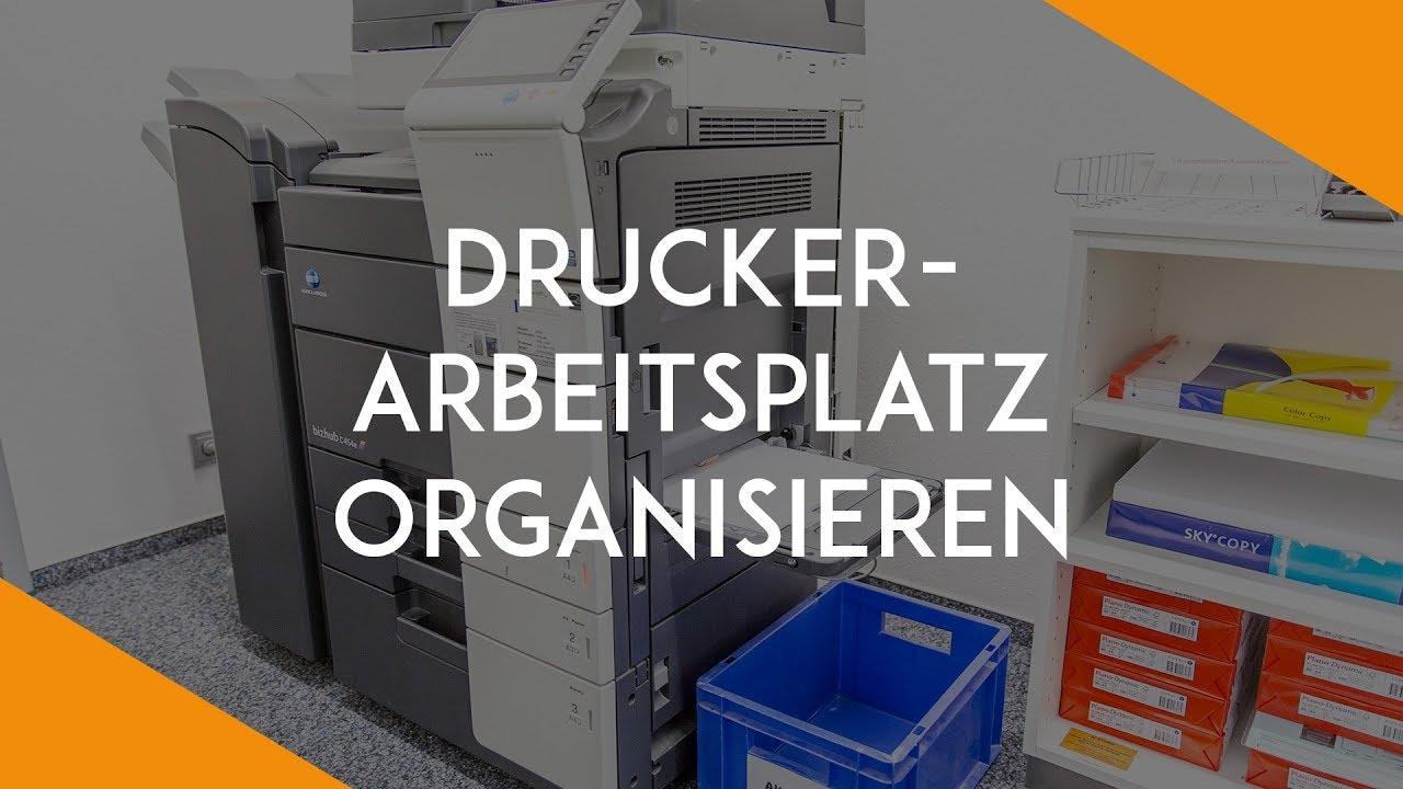Den Drucker Arbeitsplatz Organisieren Buro Kaizen Youtube