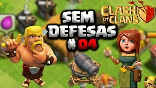 CLASH OF CLANS EVOLUINDO UMA VILA SEM DEFESAS #04 PEGANDO O 3 CONSTRUTOR E UPANDO PARA O CV4