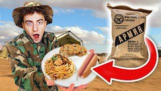 Едим ТОЛЬКО Армейскую Еду 24 ЧАСА! **МЫ ШОКИРОВАНЫ**