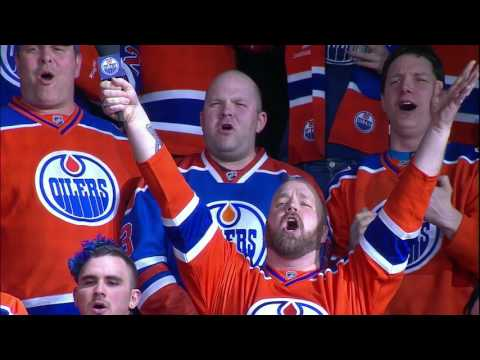 Robert Clark sings Canadian National Anthem at Rogers Place (Game 2)