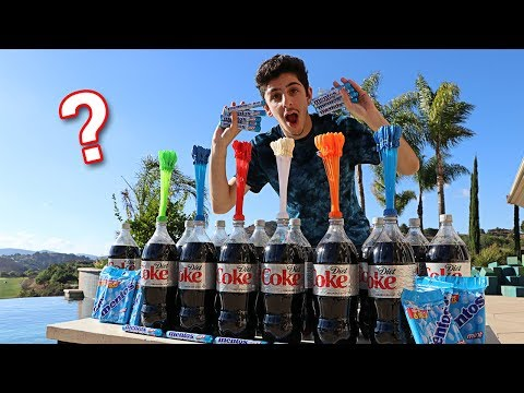 COKE AND MENTOS VS 1,000 WATER BALLOONS EXPERIMENT! (INSANE) | FaZe Rug