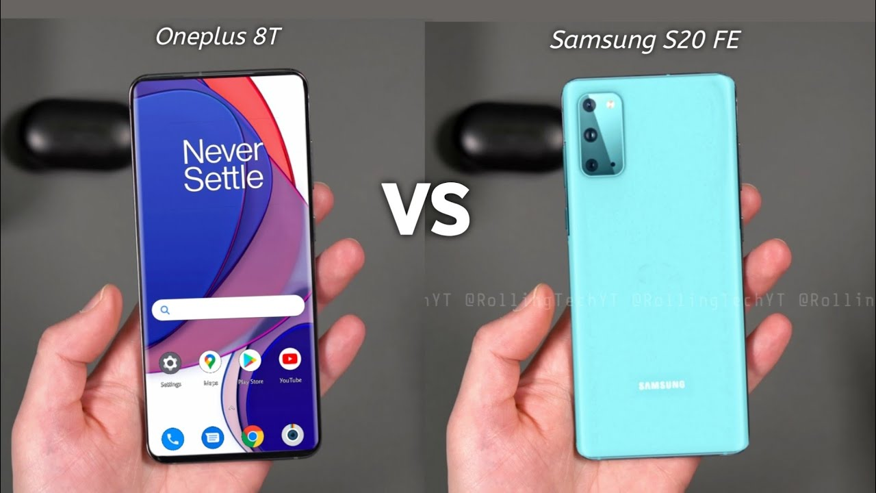 Oneplus 8T vs Samsung Galaxy S20 FE | What's The DIFFERENCE !!! - YouTube