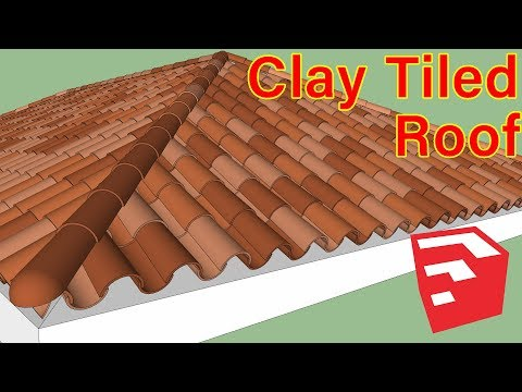 How To Make Clay Tiled Roof in Sketchup