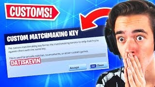 🔴 CUSTOMS, MOVING ZONE & SKINBATTLES WITH VIEWERS!! 😱 SAC: DatIsKevin (Fortnite Battle Royale)