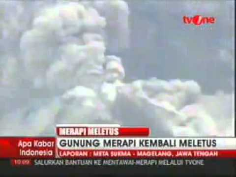 Indonesia's Mount Merapi Volcano Erupts
