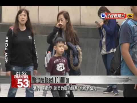 Despite decreasing Chinese tourists, Taiwan's annual visitors reach 10 million