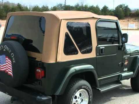 High Quality 1997 Jeep Wrangler 2dr Sahara 5 Spd Green/Tan Perfect Carfax (Cleveland,  Georgia)