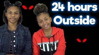 24 Hour Challenge Overnight Outside | LexiVee03