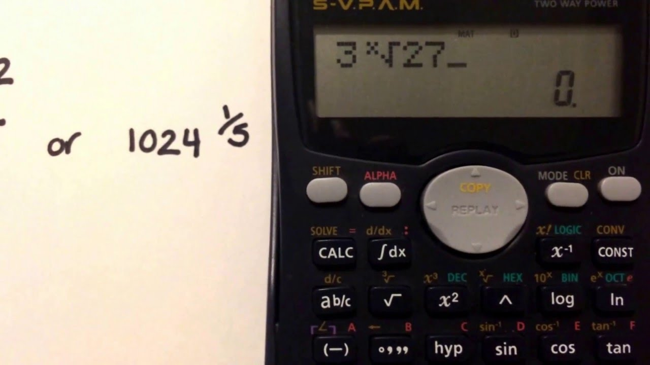 Calculating Roots Using Your Casio Fx 991ms Calculator
