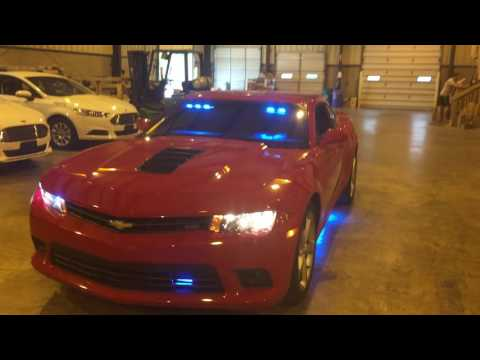 Chevy Camaro Upfitted With LED Police Lights By Fleet Safety