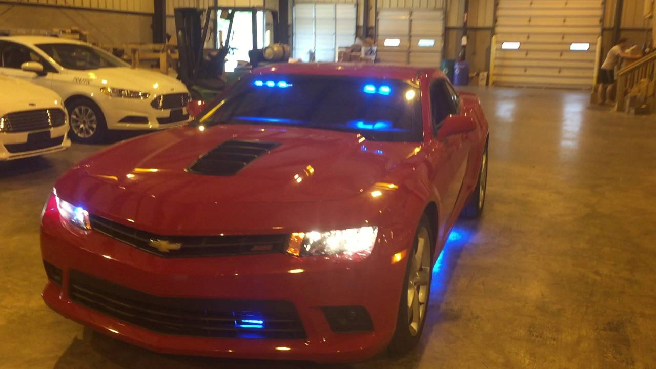 Chevy Camaro Upfitted With Led Police Lights By Fleet