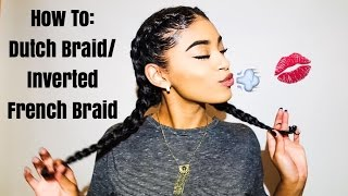 How To: Dutch Braid/Inverted French Braids on Natural Hair | jasmeannnn