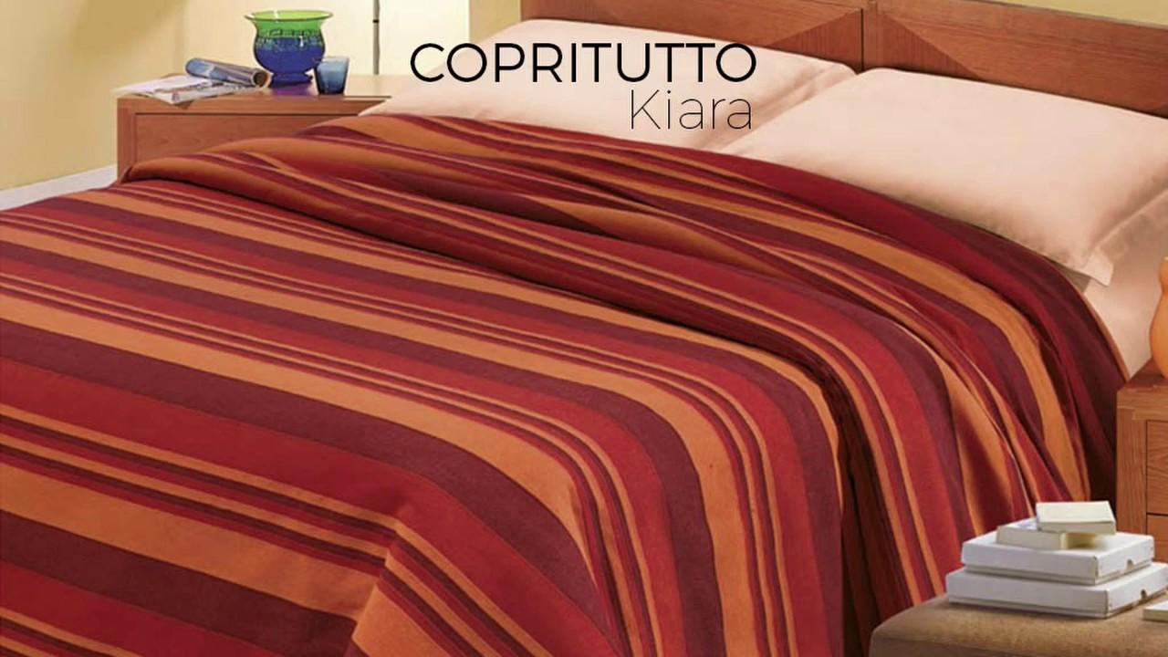 BIANCHERIAWEB Copritutto Disegno Kiara in Tinta Unita 180x260 Beige