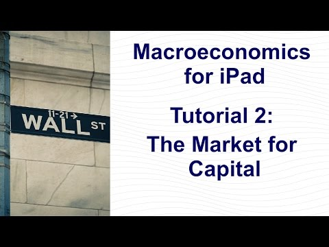 Tutorial 2: The Market for Capital│Saving, investment, real interest rate, loanable funds.