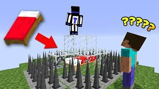 ЗАЩИЩЁННАЯ КРОВАТЬ, ГЛАВНОЕ ЧТОБЫ НЕ СРАБОТАЛА ЛОВУШКА - Minecraft Bed Wars