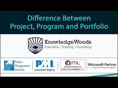 Project vs. Program vs. Portfolio