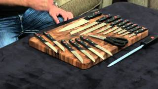 Wusthof Gourmet 18 Piece Knife Set — Review and Information.