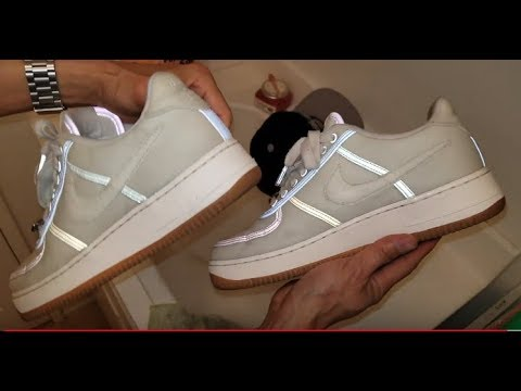 How To Clean Nike AF1 x Travis Scott Catus Jack Shoes Kicks Sneakers!