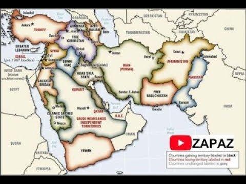 CIA Map of New Saudi Arab सीआईए और सऊदी अरब के टुकड़े  سی آئی اے نے سعودی عرب کا نیا نقشہ بنایا