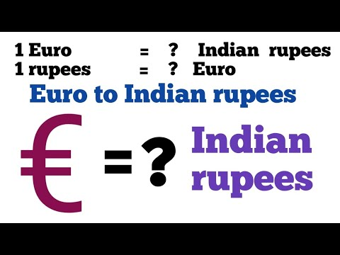Euro To Inr I Euro To Indian Rupees Exchange Rate Today |euro To Inr | Euro To Rupee | 1 Euro To Inr