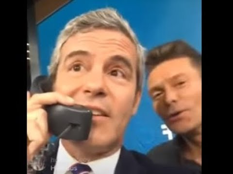 Andy Cohen Taking Calls at the Hand in Hand Hurricane Relief Telethon