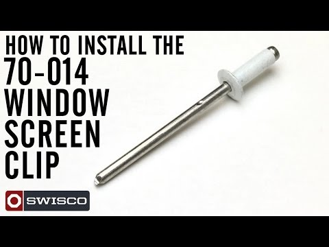 Install The 70 014 Window Screen Clip